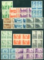 United States 756-765, 737,739, 771, Line Blocks/4, Farley Issues, Mint NH, NGAI - United States