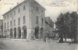 Tournon-sur-Rhône - La Mairie, L'ancienne Halle Aux Blés Et Avenue Marius Juventon - Edition Roudier - Tournon