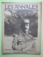 LES ANNALES Revue N°1796 Du 25 Novembre 1917 - LE Dr GUSTAVE LE BON - FRONTIERE SUISSE - LE CAPITAINE BOUCHARDON - Weltkrieg 1914-18