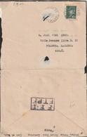 France Lettre Avec Cachet FFI FTPF Utilisé Comme Marque De Censure De Lavardac Pour L'Espagne - Postmark Collection (Covers)