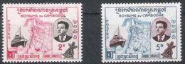 """Cambodge YT 84A & 85A """" Valeur Erronée """" 1960 Neuf** - Cambodia"""