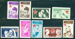Turkey RA 54-62 Nurse And Child, Complete Set/9, Mint Never Hinged - 1921-... Republic
