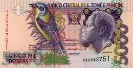 SAN TOME E PRINCIPE 5000 DOBRES 1996 P-65 UNC - San Tomé E Principe
