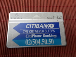 P 286 Citibank 403 L Used Some Marks On Backside Card Not Perfect  Rare - Belgique