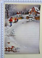 LETTRE DE NOUVEL AN...ET  DE NOEL VIERGE .. 2 PAGES .....S'OUVRE POUR ECRIRE LE TEXTE - Noël