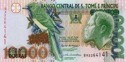 SAN TOME E PRINCIPE 10000 DOBRAS 2004 P-66 UNC - San Tomé E Principe