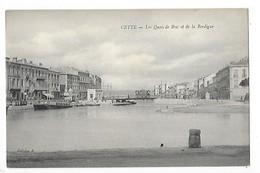 CETTE (SETE)  (cpa 34)   Les Quais De Bosc Et De La Bordigue  ## RARE ##   -  L 1 - Sete (Cette)
