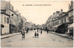 78 MANTES - L'avenue De La République - Mantes La Ville