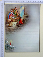 LETTRE DE NOUVEL AN...ET  DE NOEL VIERGE .. 2 PAGES .....LA CRÈCHE DE NOEL - Xmas