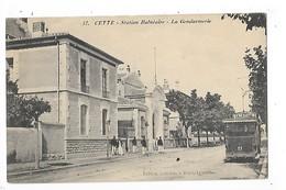 CETTE (SETE)  (cpa 34)   Station Balnéaire - La Gendarmerie   -  L 1 - Sete (Cette)