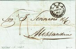 La Canea To Alexandrie D'Egypte Via Syra. Lettera Disinfettata Con Contenuto - ...-1861 Prephilately
