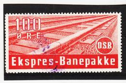 ECK1030 SCHWEDEN DSB EKSPRES-BANEPAKKE 100 ÖRE Gestempelt SIEHE ABBILDUNG - Abarten Und Kuriositäten