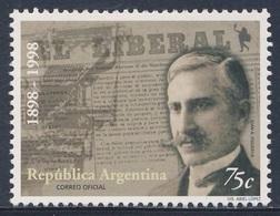 "Argentina 1998 Mi 2452 SG 2626 ** Cent. ""El Liberal"" Newspaper / Zeitung- Juan Figueroa Founder, First Issue, Typesetter - Argentinië"