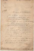 VP13.334 - 1861 - MILITARIA -  Artillerie - Lettre Du Colonel CHANAL Au Camp De CHALONS - Documents