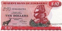ZIMBABWE 10 DOLLARS 1983 P-3d UNC - Zimbabwe