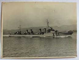 Grande Photo Contre Torpilleur Classe Vauquelin Tartu X51 Marine De Guerre Française Années 30 Marius Bar Toulon - Bateaux