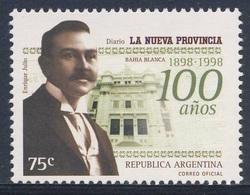 "Argentina 1998 Mi 2455 SG 2636 ** Cent. ""La Nueva Provincia"" Newspaper / Zeitung - Enrique Julio, Founder, Office - Ongebruikt"