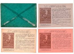 3248 - 3 Cp Dans Leur Enveloppe - L'Esperanto Par La Fable -  ( Leçon : 10-11-12- ) - La Muelista Lia Filo ... - - Esperanto