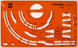 FLEISCHMANN 9951 Piccolo Spur N Zeichen Schablone Gleisplan Gleispläne 1:5 - Track