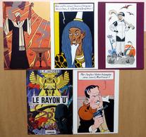 Edgar P. JACOBS    : Lot De 5 Cartes Postales - 1984/85 - Comics
