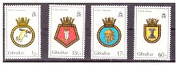 GIBRALTAR -  1982 - ROYAL NAVY'S  CRESTS. 1ST SET. COMPLETE SET. - MNH** - Gibraltar