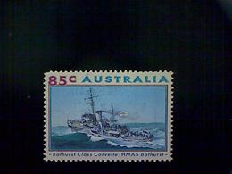 Australia, Scott 1316, Used (o), 1993, World War II Ships, HMAS Bathurst, 85¢ - Used Stamps