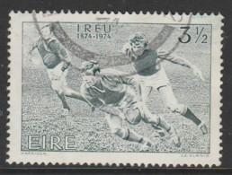 Ireland 1974 The 100th Anniversary Of The Irish Rugby Football Union 3½ P Green SW 316 O Used - 1949-... Republic Of Ireland