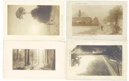 4 Cpa Vosges - Paysages De France - Route Forestière / Village Sous La Neige, ...   (S. 3443 ) - Zonder Classificatie