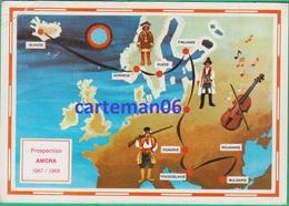Islande - Prospection AMORA 1967/1968 - Escale En Islande - Carte Itinéraire - Islande