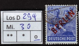 Los D294: Berlin Mi. 30, Gest. - [5] Berlín