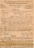 VP13.335 - MILITARIA - COLOMBES 1939 X PARIS 1921 - Notification Ancien Caporal DEVAISE Du 23è Rgt D'Infanterie à LYON - Documents
