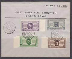 Egypt 1946 Philatelic Exhibition FDC - Covers & Documents