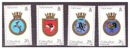 GIBRALTAR -  1984 - ROYAL NAVY'S  CRESTS. 3RD SET. COMPLETE SET.. - MNH** - Gibraltar