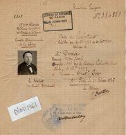 VP13.337 - MILITARIA - PARIS 1936 - Carte Du Combattant Ancien Soldat DEVAISE Du 23è Rgt D'Infanterie à LYON - Documents