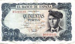 ESPAGNE - 50 Pesetas - Quinientas Pestas - 1971 .El Banco De Espana. - [ 3] 1936-1975 : Régimen De Franco