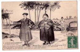 3251- Cp Humoristique -  Scènes Morvandelles - Le Chemin Le Plus Court - N°9 - - Humour