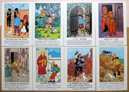 TINTIN    : Lot De 17 Cartes Postales - 1984 - Comics