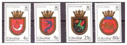 GIBRALTAR -  1985 - ROYAL NAVY'S  CRESTS. 4TH SET. COMPLETE SET.. - MNH** - Gibraltar