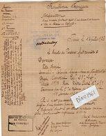 VP13.338 - MILITARIA - COLOMBES 1939 X PARIS 1925 - Notification Soldat DEVAISE Du 23è Rgt D'Infanterie à LYON - Documents