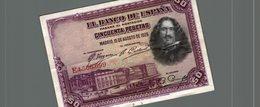 QUINIENTAS PESETAS - [ 1] …-1931 : Primeros Billetes (Banco De España)