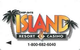 Chip-In's Island Resort Casino - Hotel Room Key Card - Hotel Keycards