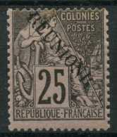 Reunion (1891) N 24aB (charniere) Surcharge REUNIONR - Reunion Island (1852-1975)