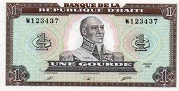 HAITI 1 GOURDE 1989 P-253 UNC - Haiti