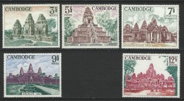 "Cambodge YT 169 à 171 "" Ruines D'Angkor "" 1966 Neuf** - Cambodia"