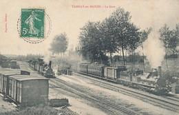 Tamnay En Bazois (58 Nièvre) La Gare - Train -édit Pagneux Circulée Cachet Perlé 1909 Du Curé Pour Facteur Bourbon Lancy - France