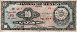 MEXICO 10 PESOS 1967 P-58 - Mexique