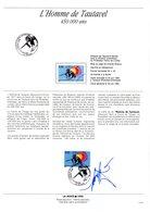 """"""" L'HOMME DE TAUTAVEL """" Sur Document A4 1er Jour De 1992 SIGNE RAYMOND MORETTI (dessinateur) N°YT 2759 Parf état - Préhistoire"""
