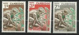 "Cambodge YT 175 à 177 "" Reboisement "" 1966 Neuf** - Cambodia"
