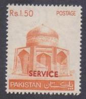 PAKISTAN 1979 SERVICE Overprint On Rs. 1.50 Makli Tomb, (Arabic Gum) MNH - Pakistan