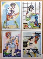 HARRY BUCKINX    : Lot De 4 Cartes Postales - EROTISME - Comics